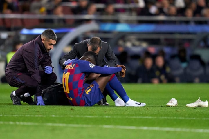Dembélé has missed 80 games due to injury across his last three seasons at Barcelona