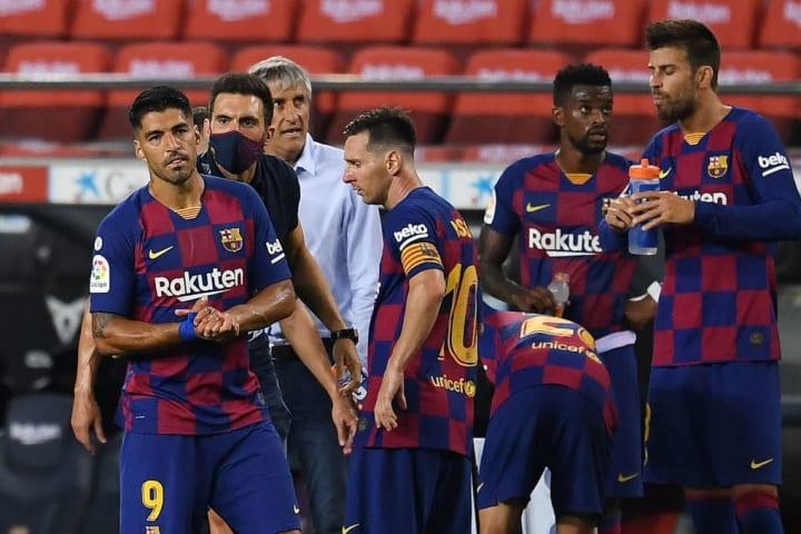 Eder Sarabia, Luis Suarez, Lionel Messi