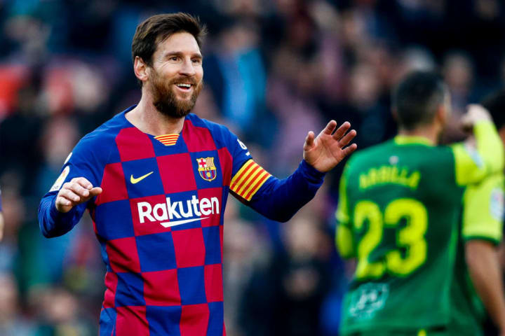 Lionel Messi scored a hat-trick against Eibar in 2019/20