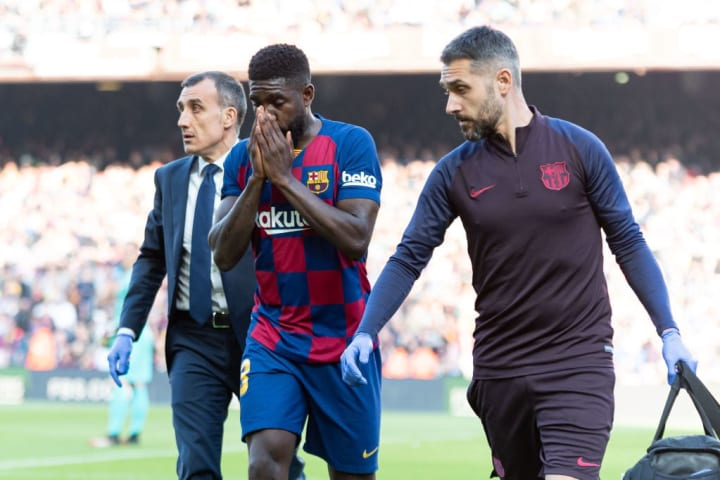 Samuel Umtiti has been held back by injuries in the past two years