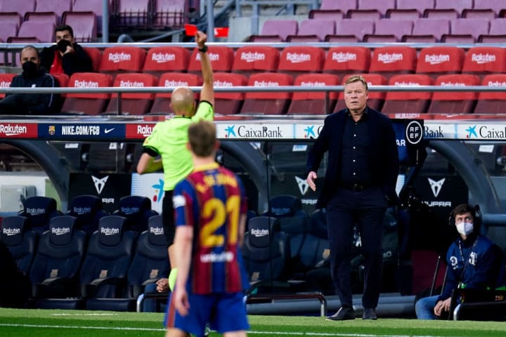 Ronald Koeman was sent to the stands against Granada