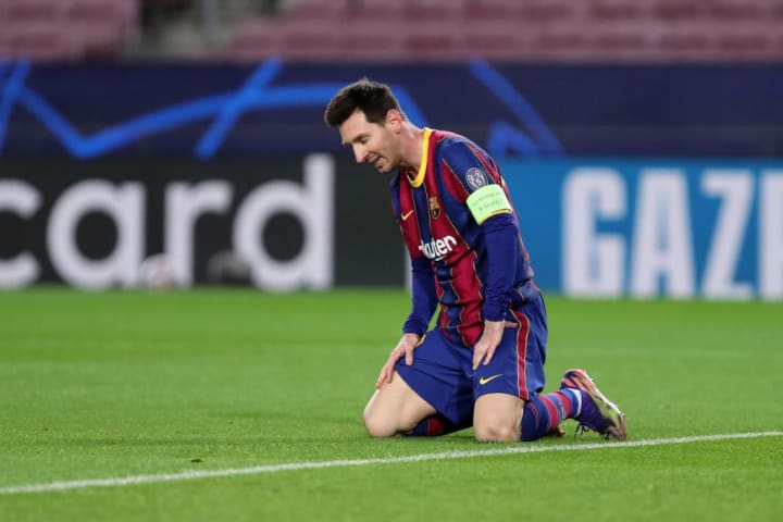 Messi handed in a transfer request in the summer of 2020