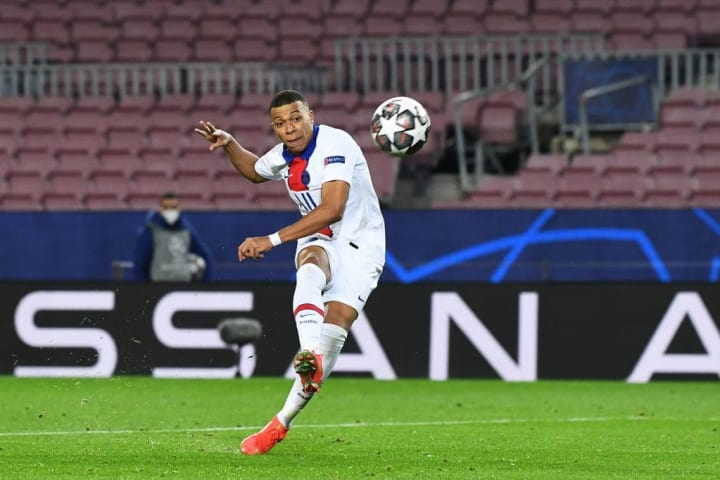 Mbappe produced a stunning performance at Camp Nou