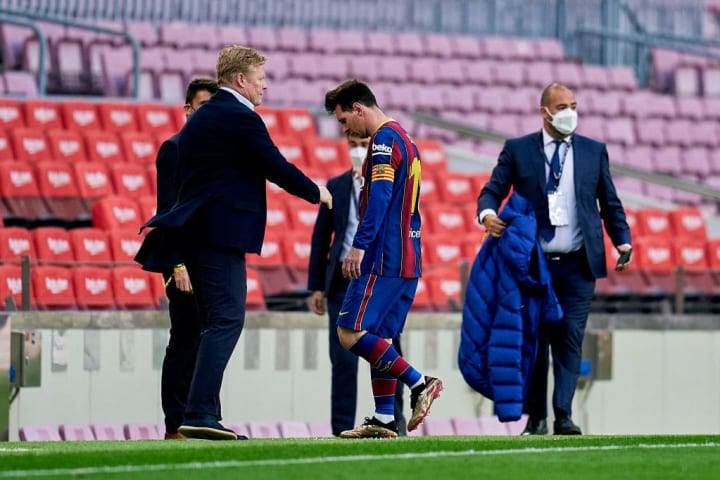 Lionel Messi's last appearance for Barcelona was against Celta Vigo