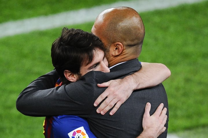 Messi was linked with a reunion with Pep Guardiola at Manchester City