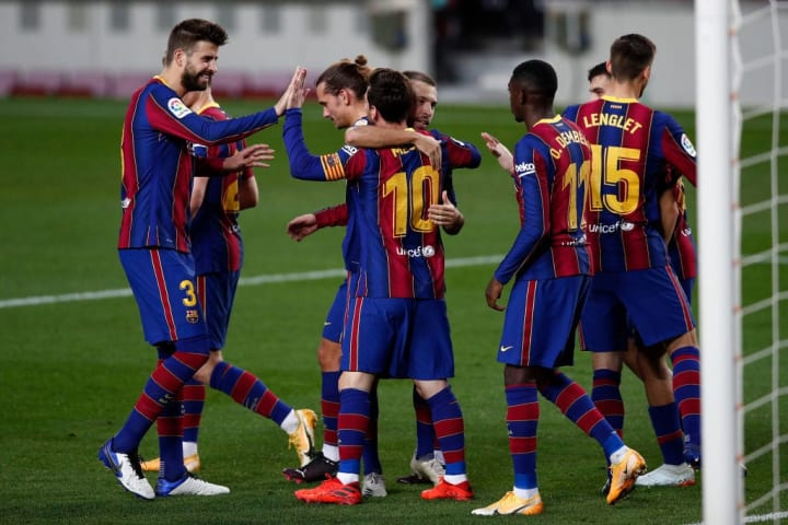 Lionel Messi, Gerard Pique, Antoine Griezmann