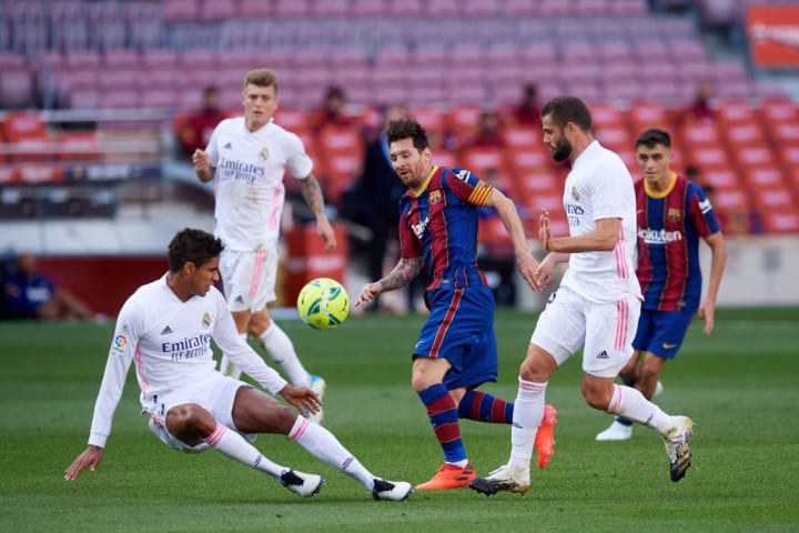 Lionel Messi, Raphael Varane, Nacho Fernandez