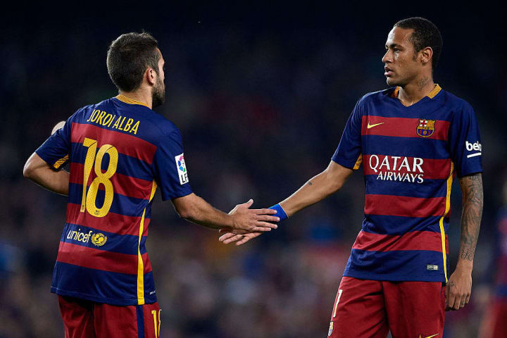 Neymar JR, Jordi Alba