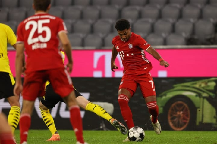 Serge Gnabry in second-half action