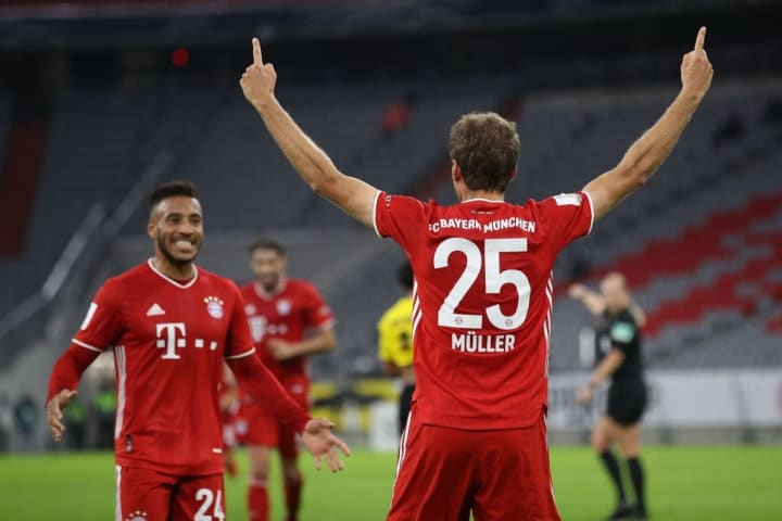Thomas Muller's emphatic header handed Bayern a 2-0 lead