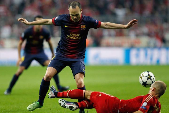 Arjen Robben, Andres Iniesta