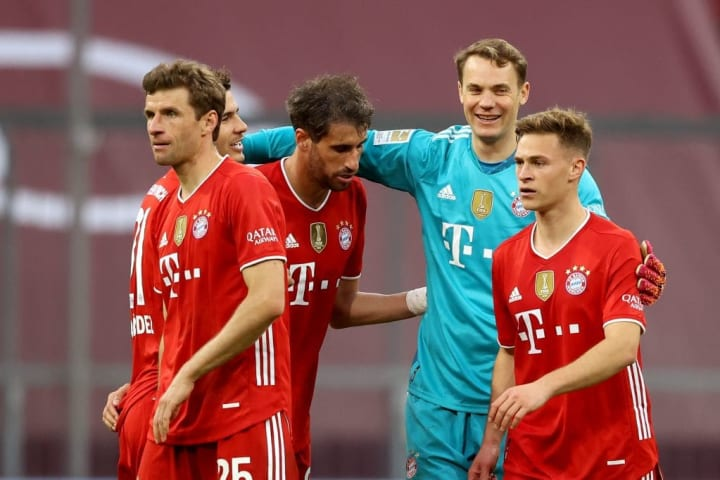 Manuel Neuer, Joshua Kimmich, Javier Martinez, Lucas Hernandez, Thomas Müller