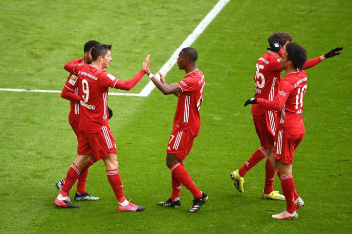 Robert Lewandowski has again been pivotal to Bayern's success
