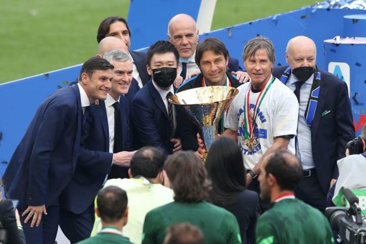 Javier Zanetti, Alessandro Antonelli, Steven Zhang, Antonio Conte, Gabriele Oriali, Giuseppe Marotta