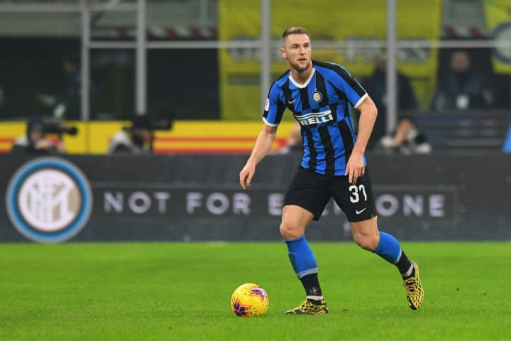 Only three outfield players have played more minutes for Inter than Milan Skriniar this season