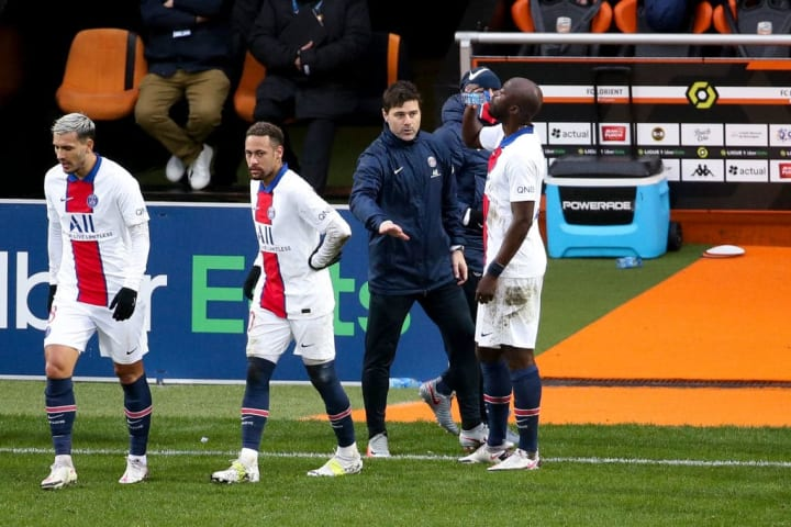 Danilo Pereira, Mauricio Pochettino, Neymar Jr, Leandro Paredes