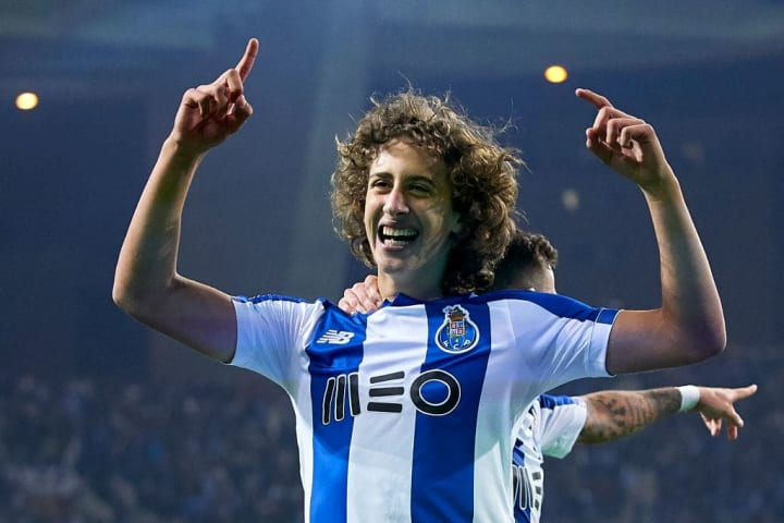 Silva celebrates his first senior goal