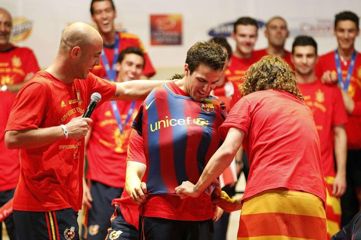 Pepe Reina, Carles Puyol, Cesc Fabregas