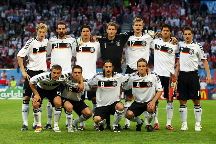 Germany prior to their clash with Poland at Euro 2008