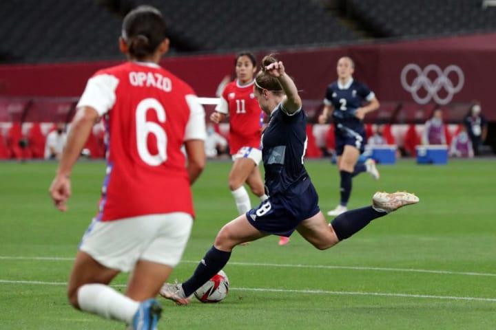 Arsenal midfielder Kim Little was consistently excellent