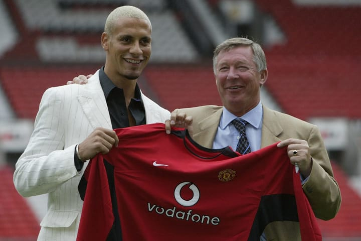 Rio Ferdinand moved to Manchester United in 2002