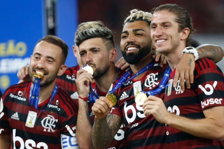Everton Ribeiro Arrascaeta Gabriel Barbosa Filipe Luis Flamengo Raning Favoritismo Libertadores