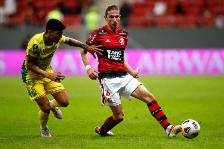 Filipe Luís Flamengo Seleção Oitavas Libertadores