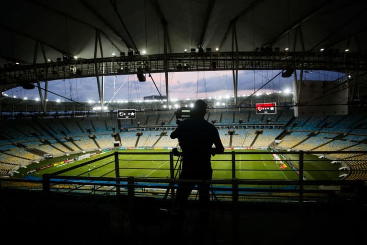Flamengo v Portuguesa Play the Carioca State Championship With Closed Doors as a Precautionary Measure Against the Coronavirus