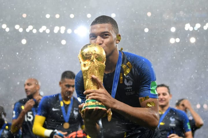 Oh yeah, he's won a World Cup as well. 21-years-old - incredible