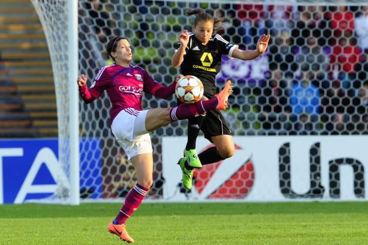 Frankfurt's US defender Gina Lewandowski