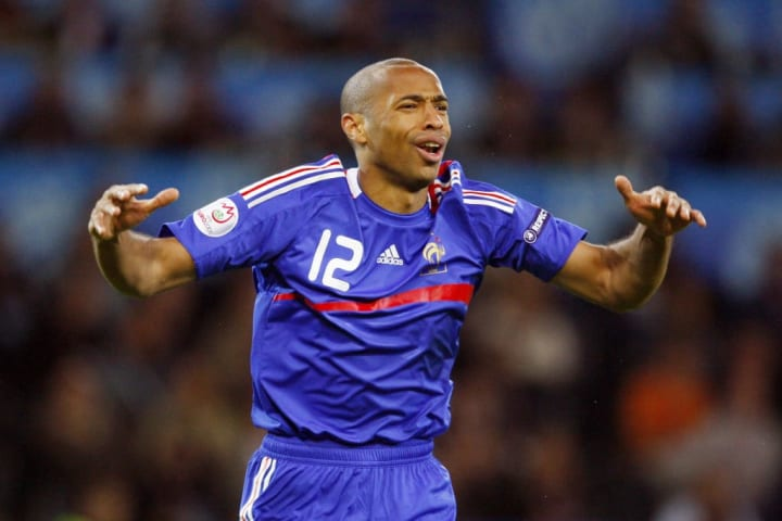 French forward Thierry Henry celebrates
