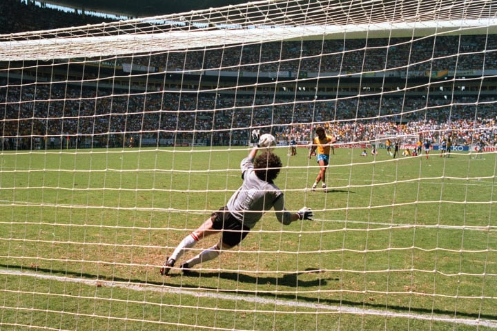 French goalkeeper Joel Bats deflects the