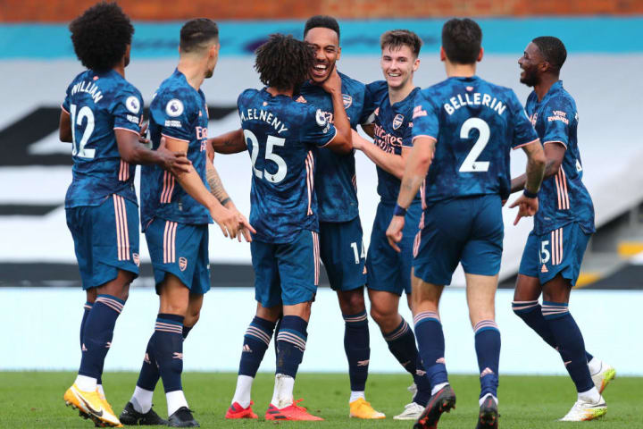 Aubameyang's opening goal of the 2020/21 campaign put the Gunners firmly in control