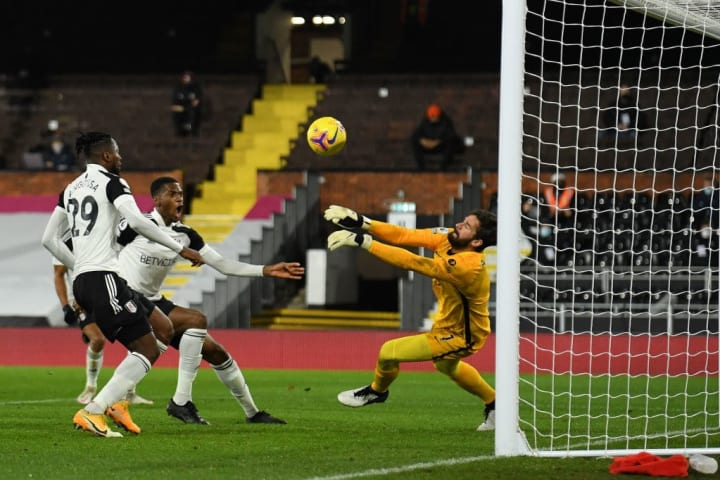 Alisson made several important saves on his return