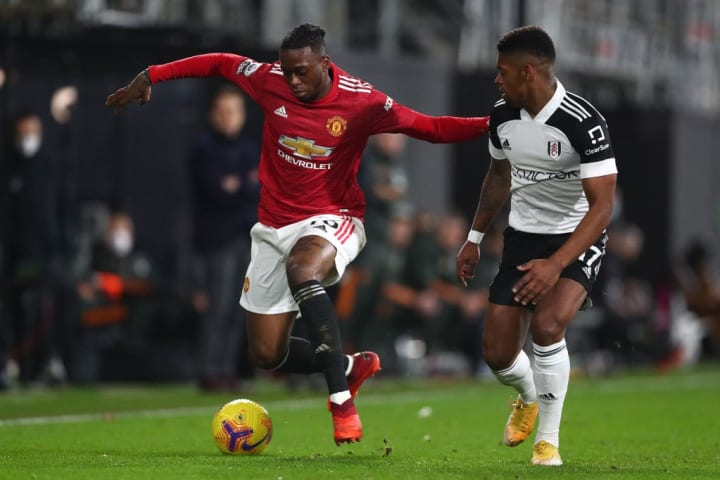 Wan-Bissaka started at right back for United