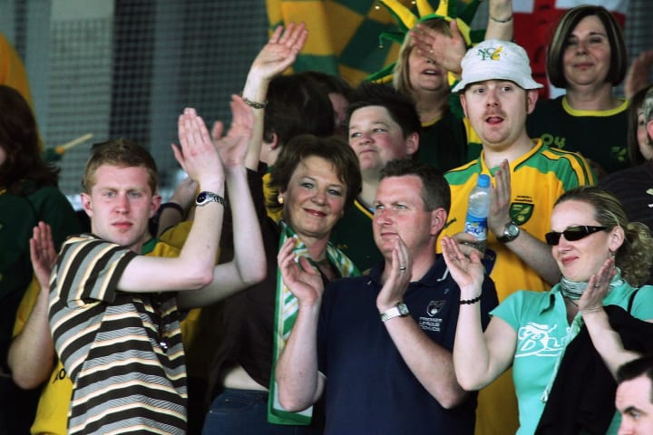 Delia used to mix with Norwich fans during the 2004/2005 season