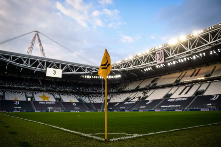 General view shows Allianz Stadium prior to the Serie A...