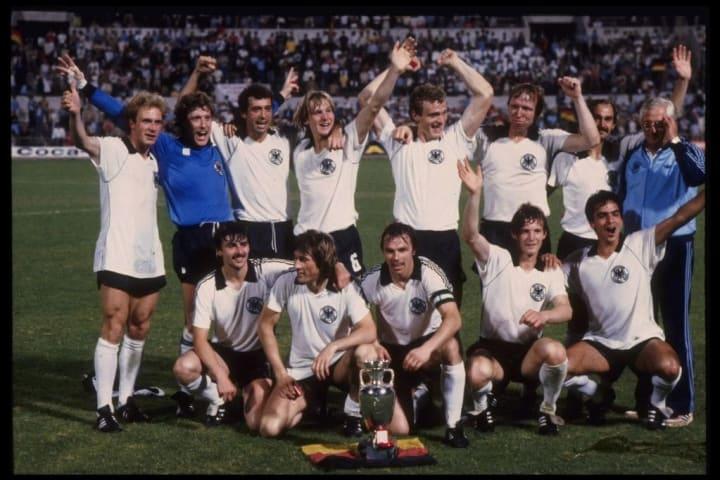 Germany celebrate after winning