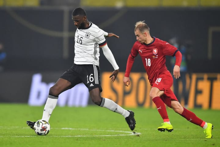 Antonio Rudiger briefly wore the captain's armband during Germany's friendly with the Czech Republic in November