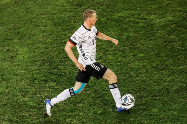 Comfortable at both centre-back and full-back, Klostermann's versatility has helped him break into Low's side
