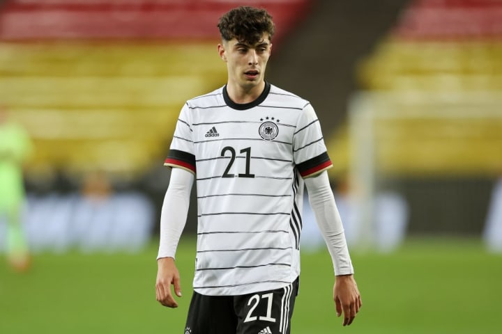 Kai Havertz is the first player born in 1999 to represent Germany's senior national team