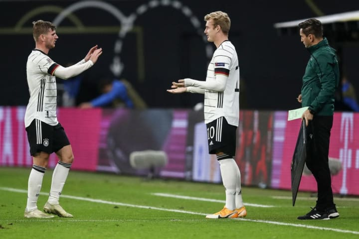 Julian Brandt has been used more often as a substitute than starter for both club and country of late