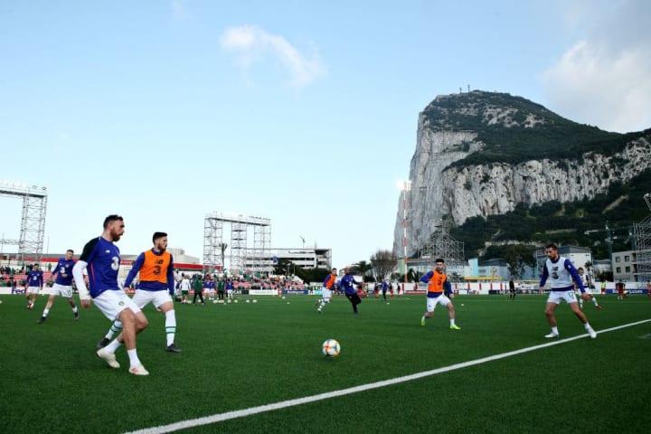 Victoria Stadium Gibraltar Cenário Visual