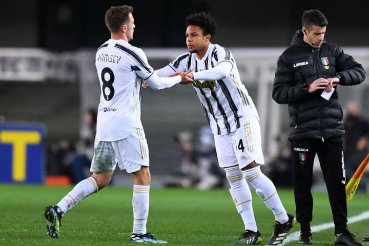 Weston McKennie came off the bench for Juventus