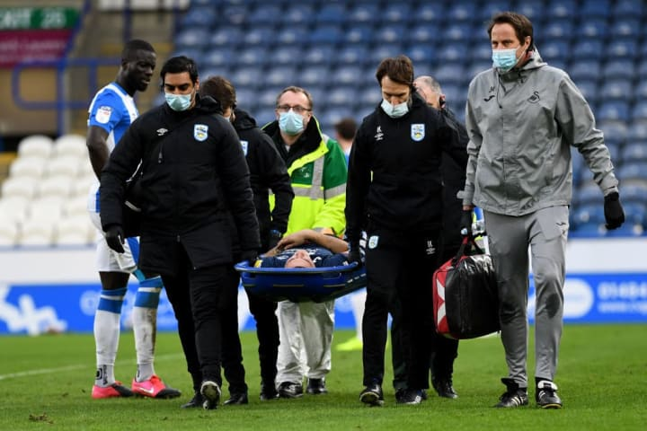 Morris was stretchered off in his fifth appearance for Swansea