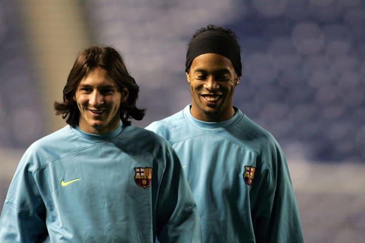 Lionel Messi Ronaldinho Gaúcho Parceiro Barcelona Carreira