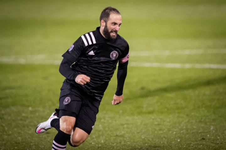 Gonzalo Higuain in action for Inter Miami