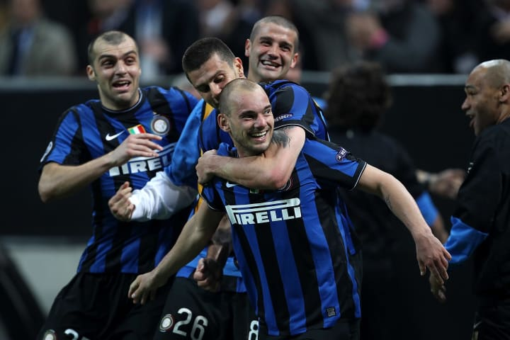 A counter-attacking Inter overwhelmed the European champions at the San Siro
