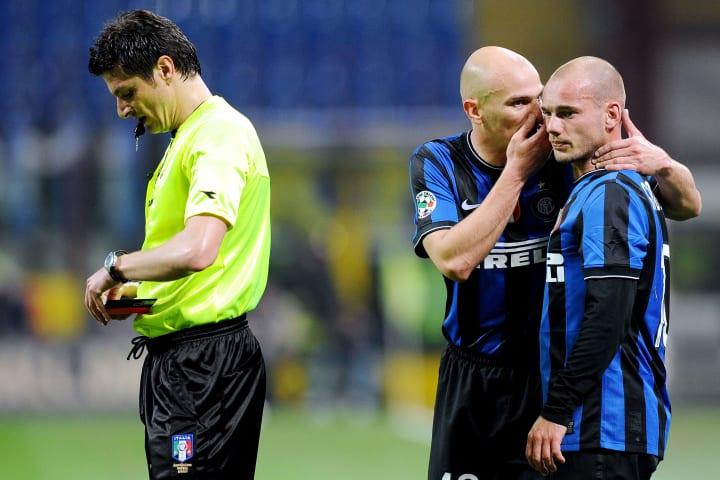 Inter Milan's Argentinian midfielder Est