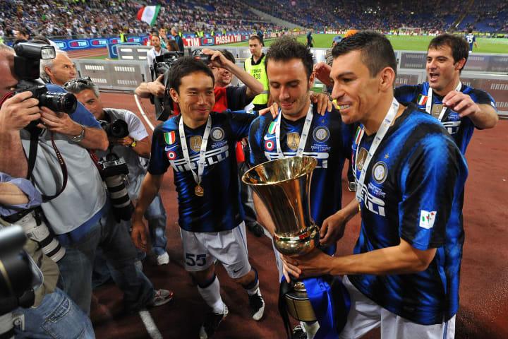 Inter Milan's Brazilian defender Lucio (